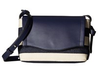 Ivanka Trump Gramercy Crossbody Eclipse Canvas Stripe Cross Body Handbags Blue