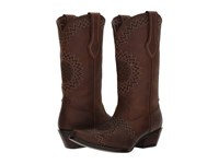 Durango Crush 12 Laser Etch Dark Chocolate Cowboy Boots Brown