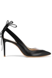 Nicholas Kirkwood Bow Embellished Leather Pumps Black