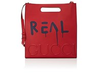 Men's Guccighost Medium Tote Bag Red