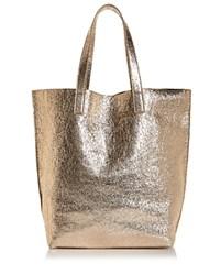 Street Level Glossy North South Tote Rose Gold