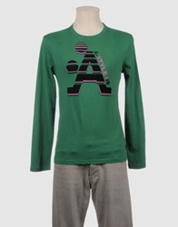 A Style Long Sleeve T Shirts Emerald Green