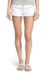Women's True Religion Brand Jeans 'Joey' Cutoff Denim Shorts Optic White