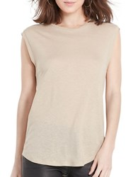 Polo Ralph Lauren Back Keyhole Sleeveless Tee Tan