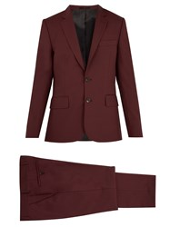 Paul Smith Single Breasted Wool Suit Burgundy