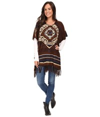 Double D Ranchwear La Serena Poncho Multi Women's Coat