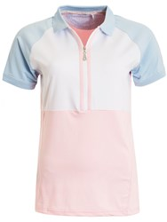 Green Lamb Philly Raglan Sleeved Colour Block Polo Pink