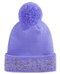 Under Armour Graphic Pom Pom Beanie Violet Storm Grape Wild Aster