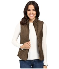 Fate Quilted Vest Olive Black Women's Vest