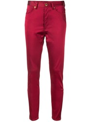 Undercover Skinny High Rise Trousers Red