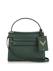 Valentino My Rockstud Small Leather Tote Dark Green