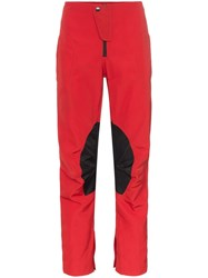 Martine Rose Speed Stripe Cropped Skinny Trousers Red