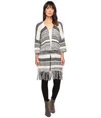 Billabong Valley Trek Cardigan Black White Women's Sweater