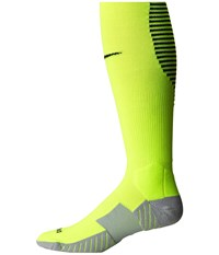 Nike Matchfit Over The Calf Team Socks Volt Black Black Knee High Socks Shoes Green
