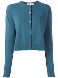 Marni Crew Neck Cardigan Blue