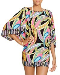 Trina Turk Garden Paisley Tunic Swim Cover Up Multi