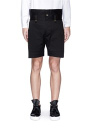 Ports 1961 Metallic Embroidered Outseam Twill Shorts Black