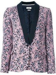 Zadig And Voltaire 'Vito' Dinner Fitted Jacket Pink And Purple