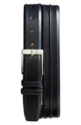 Men's Big And Tall Mezlan 'Parma' Leather Belt Blue