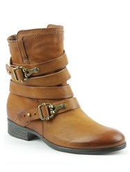 Daniel Meghan Double Buckle Ankle Boots Brown