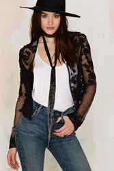 Nasty Gal Four To The Floral Lace Cardigan