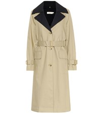 Tory Burch Ashby Cotton Trench Coat Beige