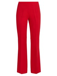 Giambattista Valli High Rise Crepe Cropped Trousers Red