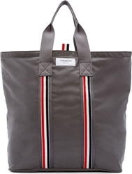 Thom Browne Grey Canvas Tote