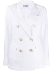 Alberto Biani Fitted Double Breasted Blazer 60
