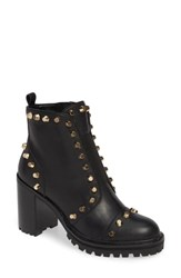 Linea Paolo Honour Studded Bootie Black Leather