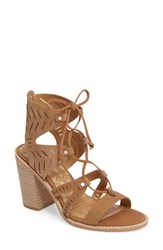 Dolce Vita Women's Luci Ghillie Lace Sandal Saddle Nubuck Leather