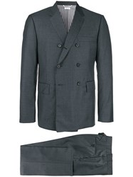 Thom Browne Double Breasted Suit Grey