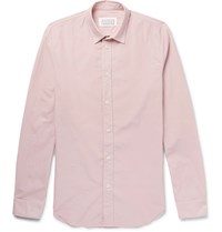 Maison Martin Margiela Slim Fit Cotton Poplin Shirt Pink