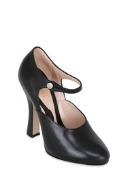 Gucci 105Mm Leather Mary Jane Pumps