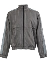 Andrea Crews Striped Pinjac Jacket Grey
