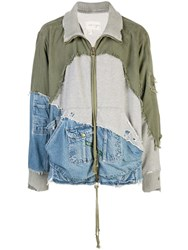 Greg Lauren Patchwork Jacket Green