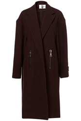 Burgundy Longline Coat By Unique Coats Clothing Topshop