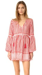 One By Hello Parry Dara Babydoll Tunic Dress Red