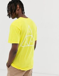 Huf Essentials Triple Triangle T Shirt In Yellow