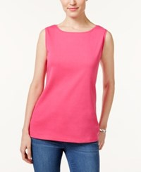 Karen Scott Boat Neck Tank Top Only At Macy's Wild Punch
