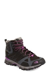 The North Face Women's 'Ultra Hike Ii' Mid Waterproof Hiking Shoe Black Sweet Violet
