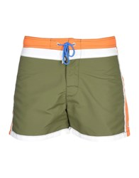 Fred Perry Swim Trunks Military Green
