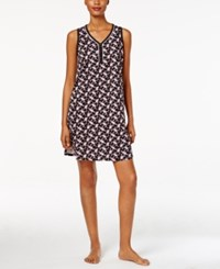 Charter Club V Neck Printed Chemise Only At Macy's Mini Paisley