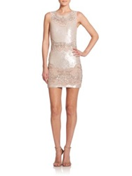 Needle And Thread Beaded Sequin Sheath Dress Pastel Pink