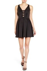 Love Nickie Lew Cross Back Skater Dress Black