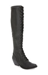 Jeffrey Campbell Women's Erlene Knee High Lace Up Boot