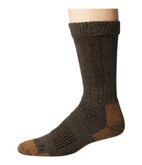 Carhartt Merino Wool Comfort Stretch Steel Toe Socks 1 Pair Pack Brown Men's Crew Cut Socks Shoes