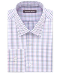 Geoffrey Beene Men's Fitted Bedford Cord Dress Shirt Pink Mist