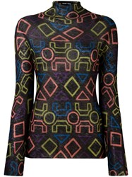 Emporio Armani Patterned High Neck Jumper