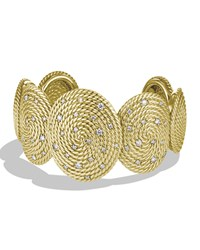Cable Coil Cuff With Diamonds In Gold David Yurman